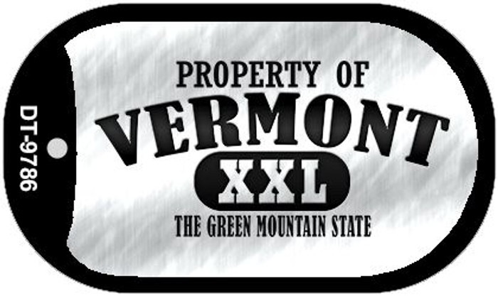 Property Of Vermont Novelty Metal Dog Tag Necklace DT-9786