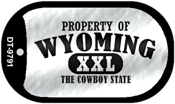 Property Of Wyoming Novelty Metal Dog Tag Necklace DT-9791