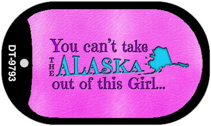 Alaska Girl Novelty Metal Dog Tag Necklace DT-9793