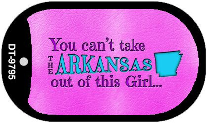 Arkansas Girl Novelty Metal Dog Tag Necklace DT-9795