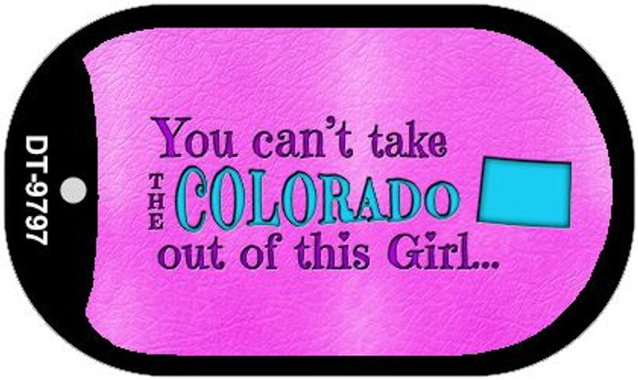 Colorado Girl Novelty Metal Dog Tag Necklace DT-9797