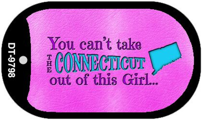 Connecticut Girl Novelty Metal Dog Tag Necklace DT-9798