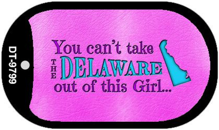 Delaware Girl Novelty Metal Dog Tag Necklace DT-9799