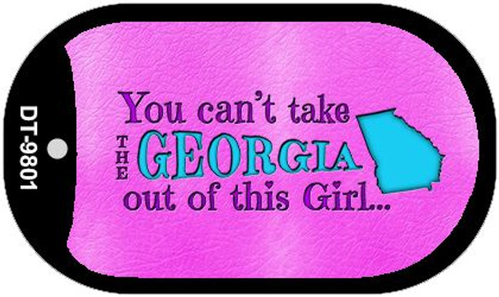 Georgia Girl Novelty Metal Dog Tag Necklace DT-9801