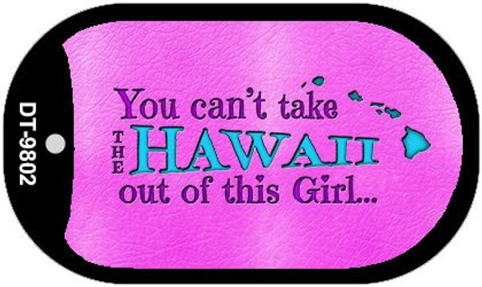 Hawaii Girl Novelty Metal Dog Tag Necklace DT-9802
