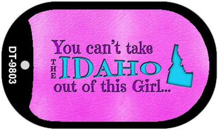 Idaho Girl Novelty Metal Dog Tag Necklace DT-9803