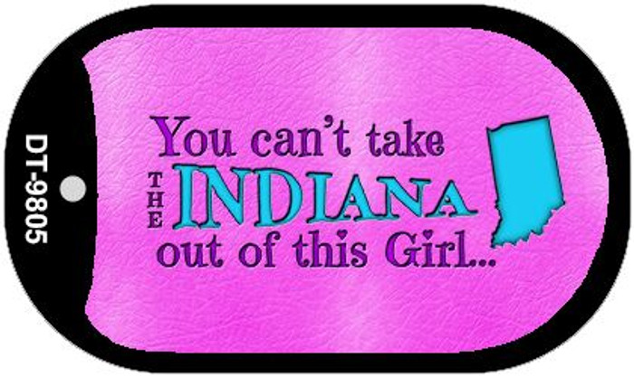 Indiana Girl Novelty Metal Dog Tag Necklace DT-9805