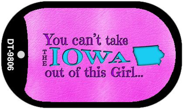 Iowa Girl Novelty Metal Dog Tag Necklace DT-9806
