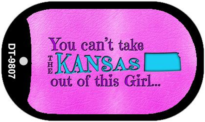 Kansas Girl Novelty Metal Dog Tag Necklace DT-9807