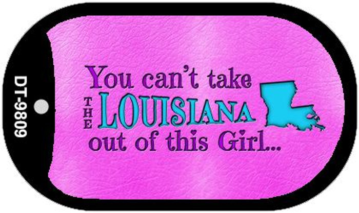 Louisiana Girl Novelty Metal Dog Tag Necklace DT-9809
