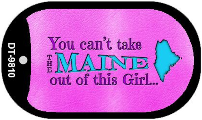 Maine Girl Novelty Metal Dog Tag Necklace DT-9810
