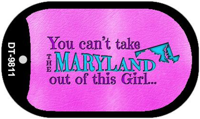 Maryland Girl Novelty Metal Dog Tag Necklace DT-9811
