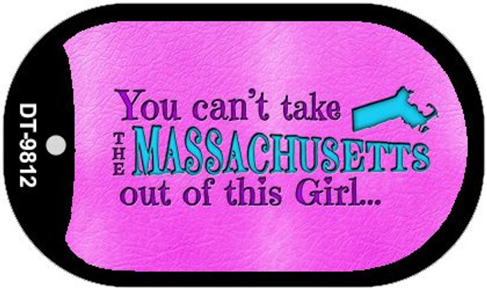 Massachusetts Girl Novelty Metal Dog Tag Necklace DT-9812