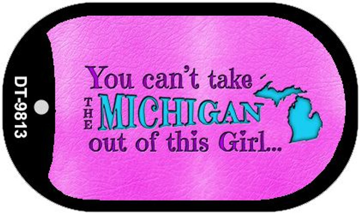 Michigan Girl Novelty Metal Dog Tag Necklace DT-9813