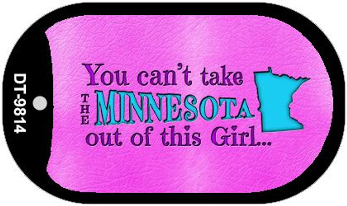 Minnesota Girl Novelty Metal Dog Tag Necklace DT-9814