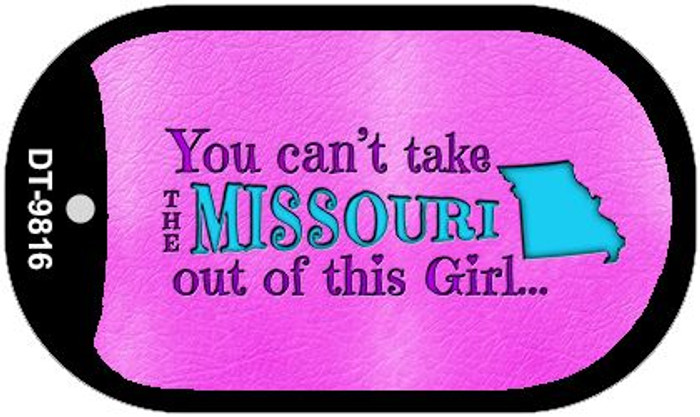 Missouri Girl Novelty Metal Dog Tag Necklace DT-9816