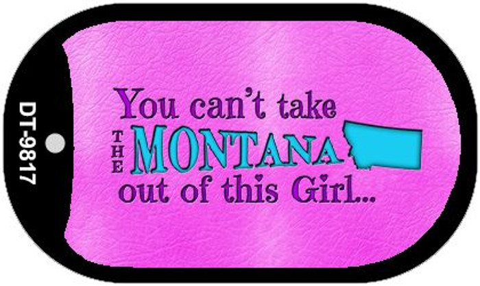 Montana Girl Novelty Metal Dog Tag Necklace DT-9817