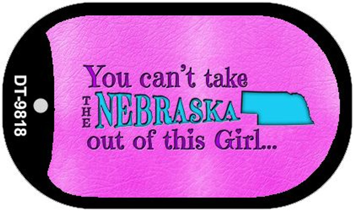 Nebraska Girl Novelty Metal Dog Tag Necklace DT-9818