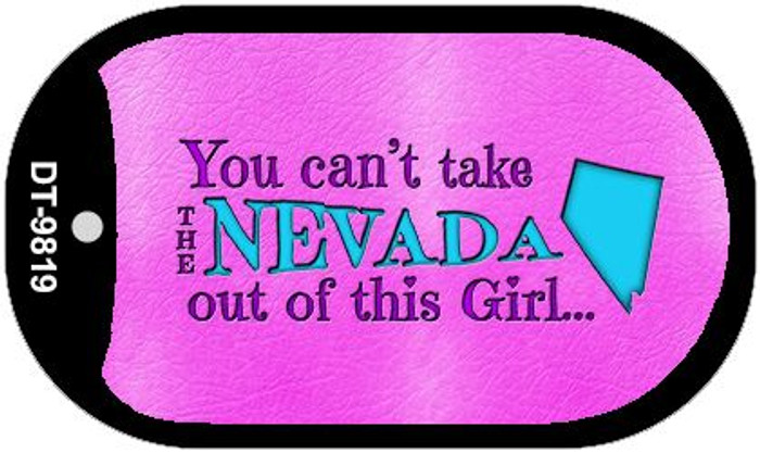 Nevada Girl Novelty Metal Dog Tag Necklace DT-9819