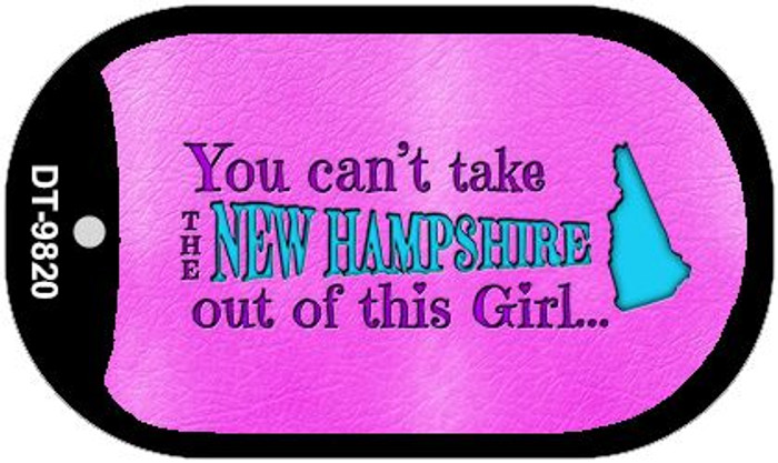 New Hampshire Girl Novelty Metal Dog Tag Necklace DT-9820