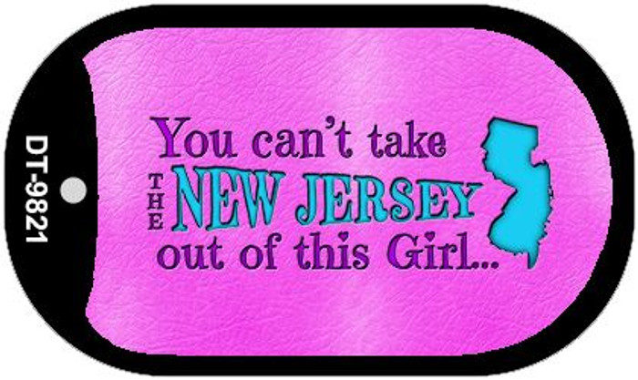 New Jersey Girl Novelty Metal Dog Tag Necklace DT-9821