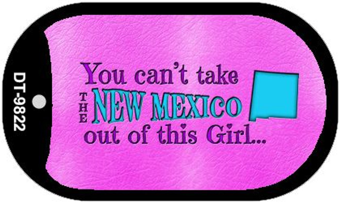 New Mexico Girl Novelty Metal Dog Tag Necklace DT-9822