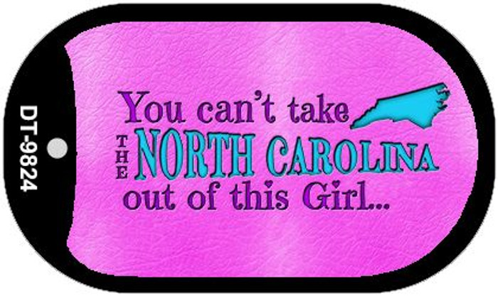 North Carolina Girl Novelty Metal Dog Tag Necklace DT-9824