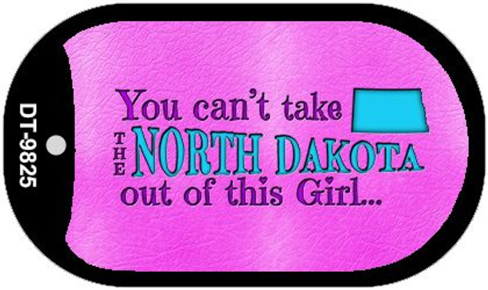 North Dakota Girl Novelty Metal Dog Tag Necklace DT-9825