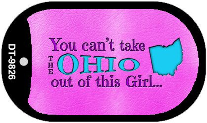 Ohio Girl Novelty Metal Dog Tag Necklace DT-9826