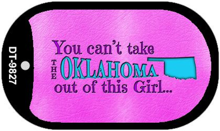 Oklahoma Girl Novelty Metal Dog Tag Necklace DT-9827