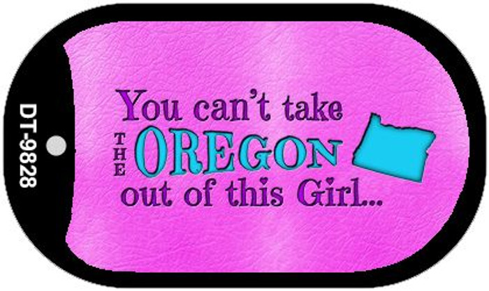 Oregon Girl Novelty Metal Dog Tag Necklace DT-9828