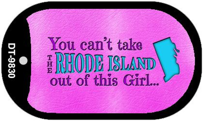 Rhode Island Girl Novelty Metal Dog Tag Necklace DT-9830