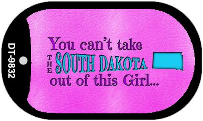 South Dakota Girl Novelty Metal Dog Tag Necklace DT-9832
