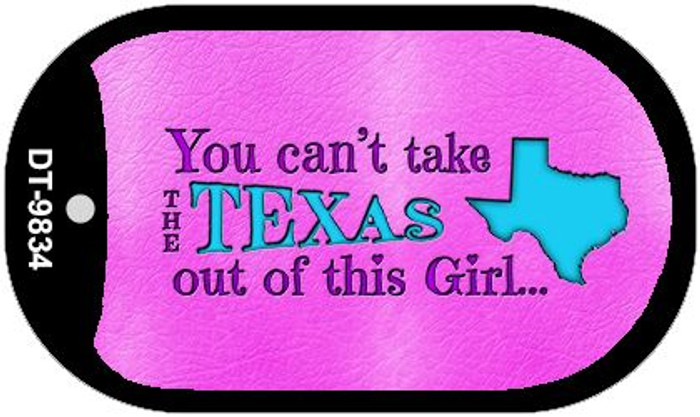 Texas Girl Novelty Metal Dog Tag Necklace DT-9834