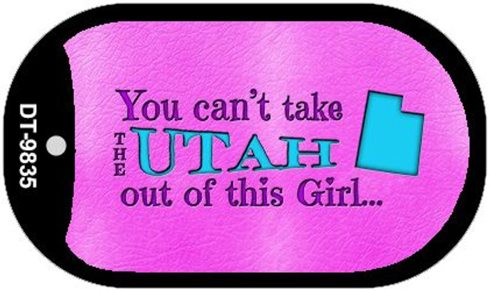 Utah Girl Novelty Metal Dog Tag Necklace DT-9835