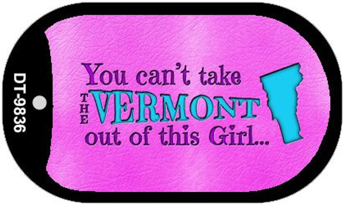 Vermont Girl Novelty Metal Dog Tag Necklace DT-9836