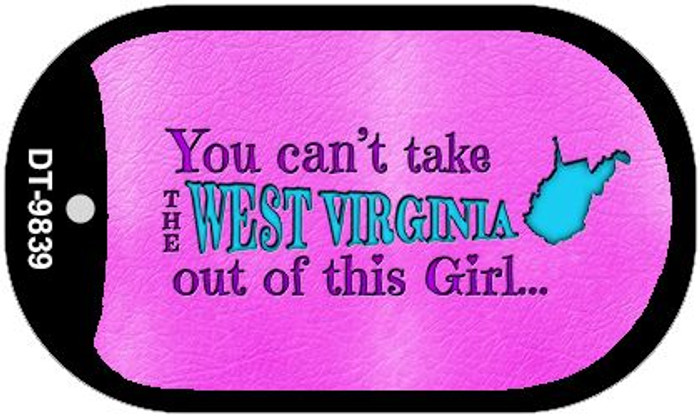 West Virginia Novelty Metal Dog Tag Necklace DT-9839