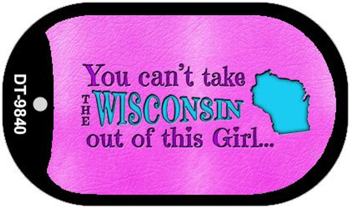 Wisconsin Girl Novelty Metal Dog Tag Necklace DT-9840