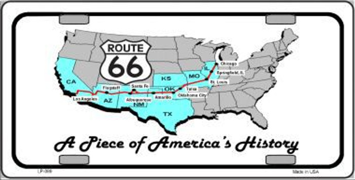 A Piece Of History Novelty Metal License Plate