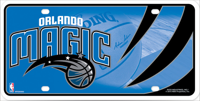 Orlando Magic Metal Novelty License Plate LP-674