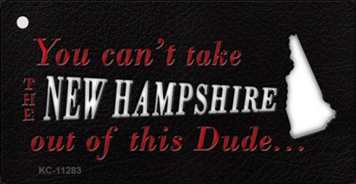 New Hampshire Dude Novelty Metal Key Chain KC-11283