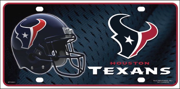 Houston Texans Metal Novelty License Plate LP-699
