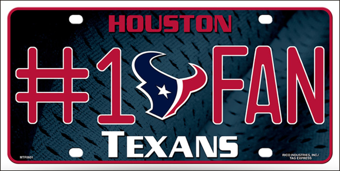 Houston Texans Fan Metal Novelty License Plate LP-700