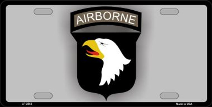 Airborne Eagle Novelty Metal License Plate LP-2553