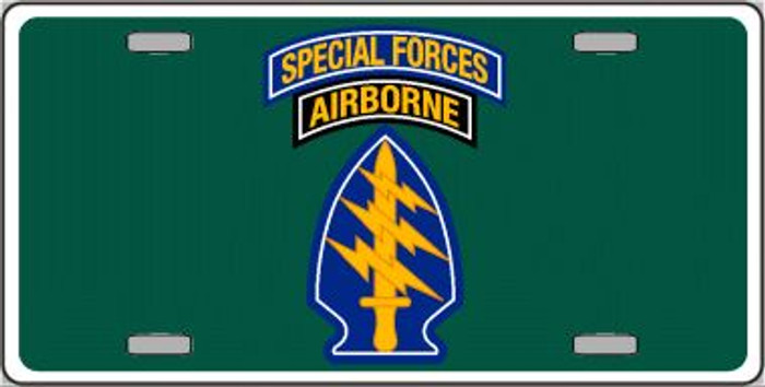 Special Forces Novelty Metal License Plate LP-5223