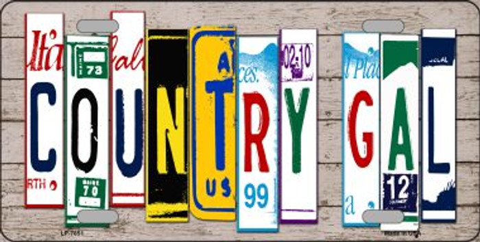 Country Gal Plate Art Novelty Metal License Plate LP-7851