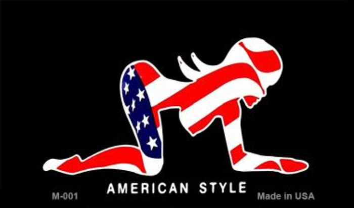 American Style Sexy Flag Pose Novelty Metal Magnet M-001