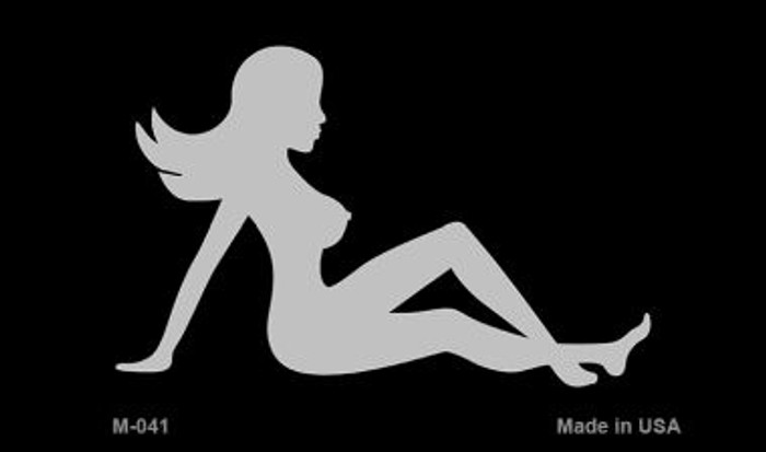 Mud Flap Girl Silhouette Novelty Metal Magnet M-041
