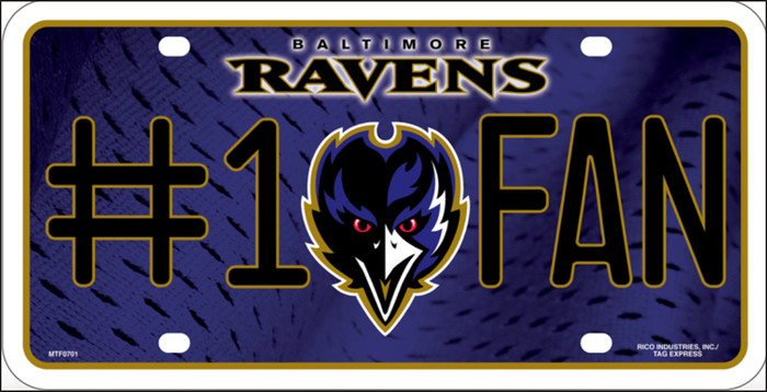 Baltimore Ravens Fan Metal Novelty License Plate LP-702