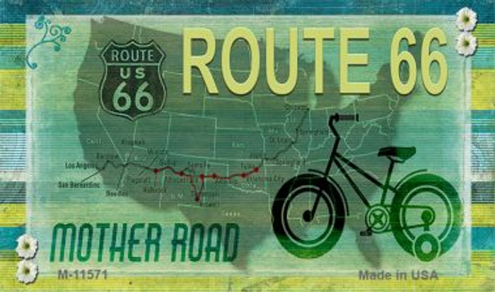 Route 66 Mother Road Novelty Metal Magnet M-11571